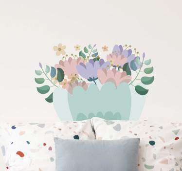 Bağbozumu çiçekler oturma odası duvar dekoru