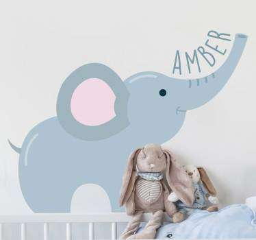 A large elephant wall art decal for the decoration of kids bedroom. Buy it in the size suitable for a space in the home. Easy to apply.