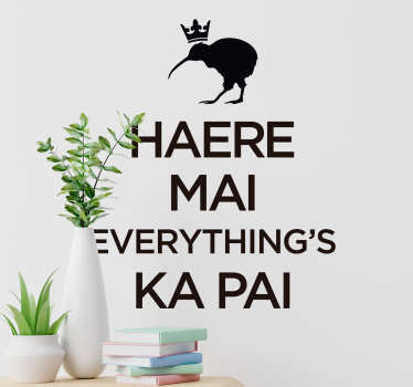 Popular saying wall sticker with the text ''everything's kai pai''.  We have it in different colours and size options to enjoy an amazing decoration.