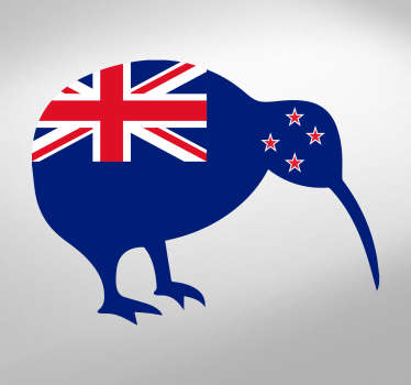 Apply this fabulous kiwi car Sticker with New Zealand flag on your vehicle and get two symbols of this wonderful country!