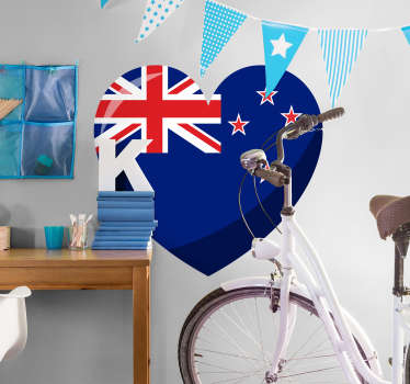This stunning love New Zealand flag sticker is the decoration you need for expressing your love for this amazing country!