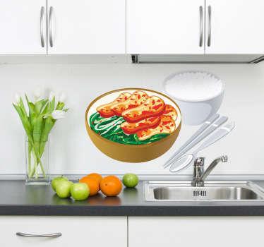 Oriental Food Kitchen Sticker