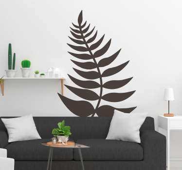 Scrum down and show your national pride with this New Zealand fern leaf wall sticker. Choose from over 50 colours and a wide range of sizes.