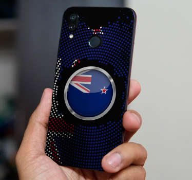 New Zealand flag huawei vinyl decalto apply on the back of an huawei phone to beautify it in Zealand representation. choose the best size model.