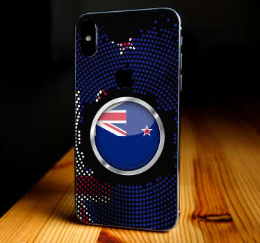 New Zealand flag iPhone vinyl decal to decorate the back of an iPhone to beautify it with the attention of the country representation.
