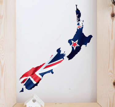Think about it just for a moment: this fantastic New Zealand Map flag sticker can be the best way of decorating and personalizing your house.