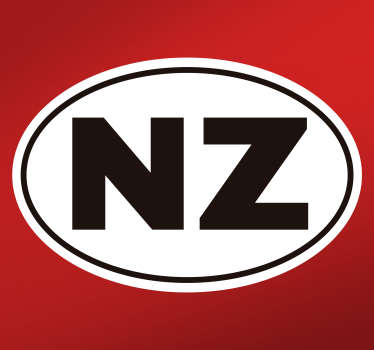 Decorative car vinyl sticker with an NZ city sign. Flag this beautiful design on the surface of any vehicle in  any ideal size.