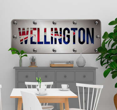 A beautiful and colorful wellington plate wall sticker to decorate any flat surface. It is available in different size options.