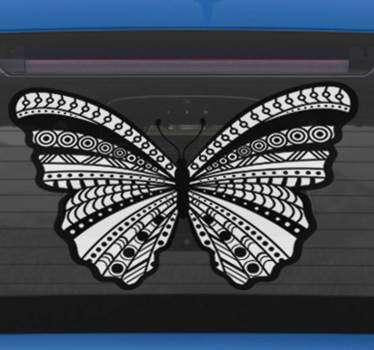 Etnisk sommerfugl bil klistremerke