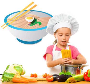 Noodles Oriental Food Sticker