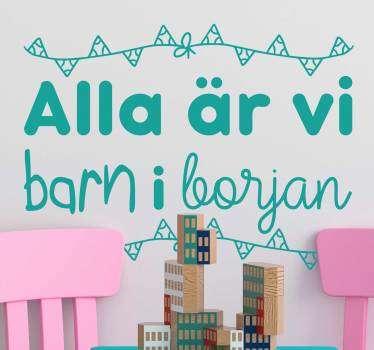 Svensk ordspråk barn text klistermärke