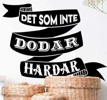 Svenska proverb starkare vardagsrum väggdekoration