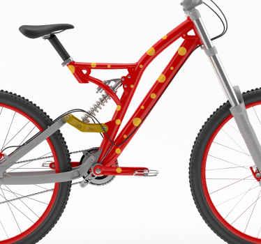 自行车圈贴纸的点