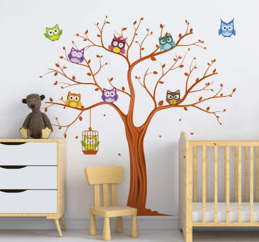 Colorful owl stickers are a great idea for wall decorations in a children's room. Check our bird stickers and choose something for yourself.