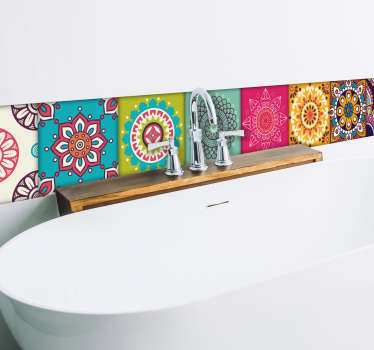 Moorish tiles wall border sticker