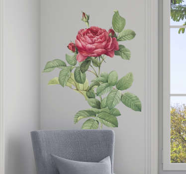 Red rose wall sticker for living room is the perfect idea for decorating the interior and adding it a unique character. Check flower stickers.