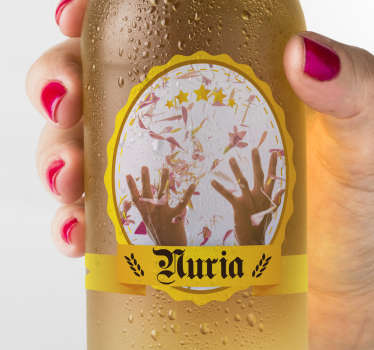Drinks banner party sticker