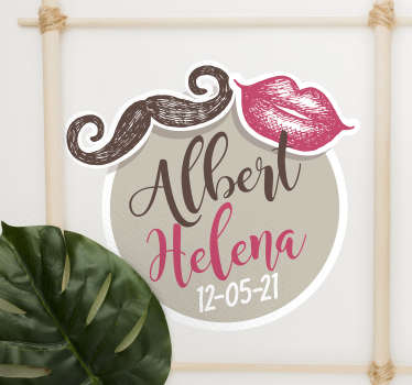 Decorative wedding wall sticker to apply on any flat surface. It can be used on flat surface for wedding reception or in the home. Provide the detail.