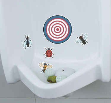 Make sure your colleagues and customers don't miss the mark with these humorous urinal target stickers. Choose from a wide range of shapes and sizes!