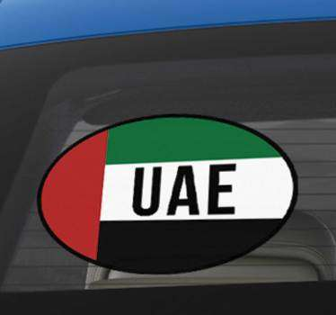 High quality UAE flag Decal, perfect to stick onto gadgets, walls and your car windows. Choose from a wide range of sizes!