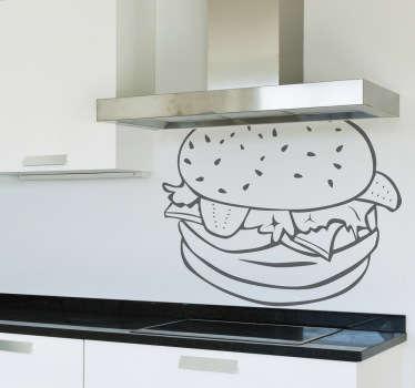 Naklejka apetyczny hamburger