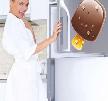 Naklejka czekoladowe lody na patyku