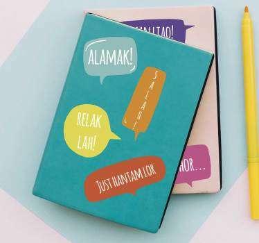 请购买我们的教育性文字黑胶贴纸,上面贴有单个单词来装饰书籍。选择合适的尺寸。容易申请。