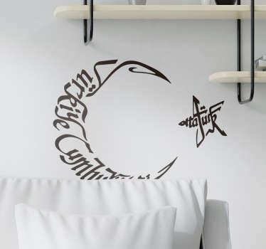 Türk sembol oturma odası duvar dekoru