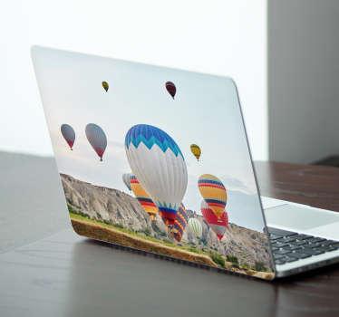 Sıcak hava balonları laptop sticker