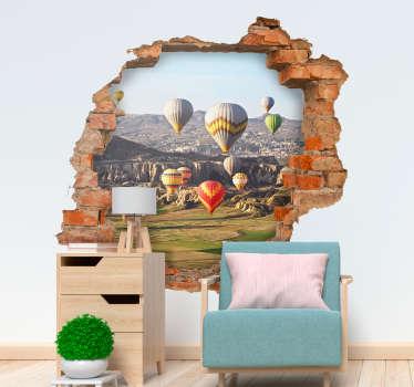 Sıcak hava balonları 3d görsel efektler ev sticker