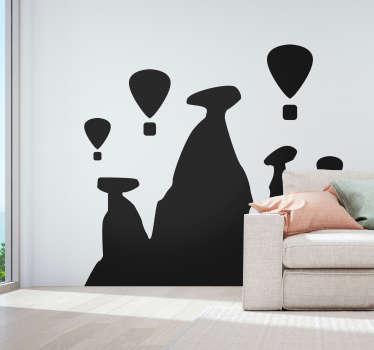 Hor hava balonları siluet manzarası siluet