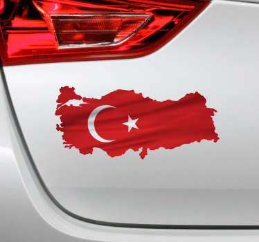 Türk bayrağı bayrak etiket