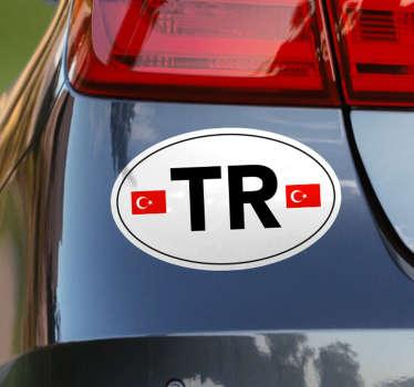 Türk araba sembolü konum etiketi