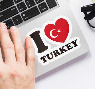 Türkiye laptop etiket seviyorum