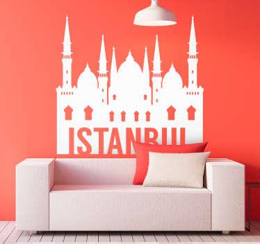 Istanbul manzarası manzarası siluet