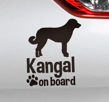 Kangal on board animal wall sticker