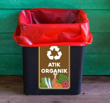 Organik çöp vinil işareti
