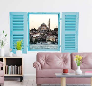 Türkiye manzara duvar resmi sticker