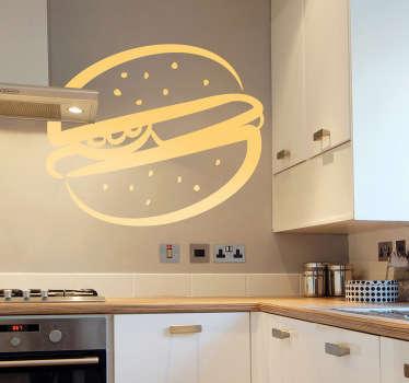 Wandtattoo Küche Hamburger Zeichnung