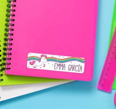 Send your kids back to school in style with this amazing collection of personalised notebook stickers. Worldwide delivery available!