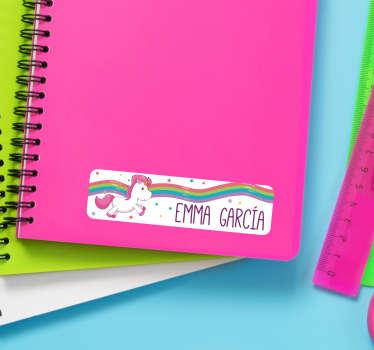 Personalised Kids Notebook Stickers