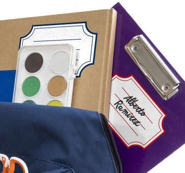 Vinilo infantil etiquetas para material escolar