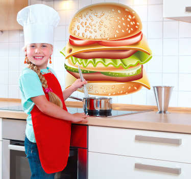 Hamburger vegg klistremerke