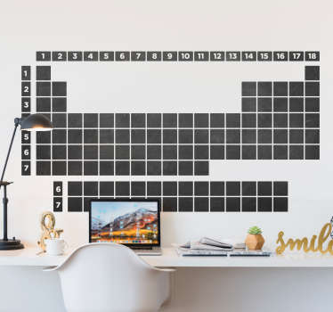 Periodic table chalkboard Wall Sticker
