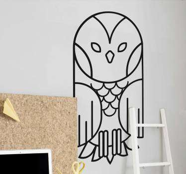 Geometric owl animal wall sticker