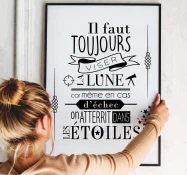 Sticker Littérature Oscar Wilde Étoiles
