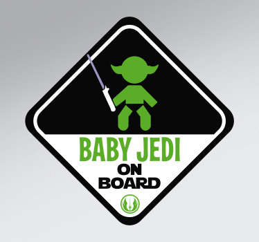 Jedi baby on board sticker