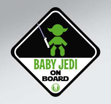 Jedi baby on board sticker