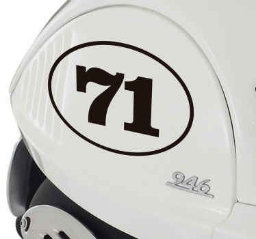 Racing number vehicle sticker