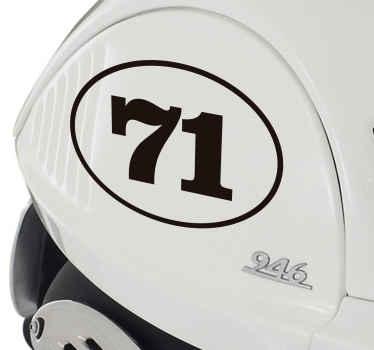 Personliggørende nummer køretøj klistermærke